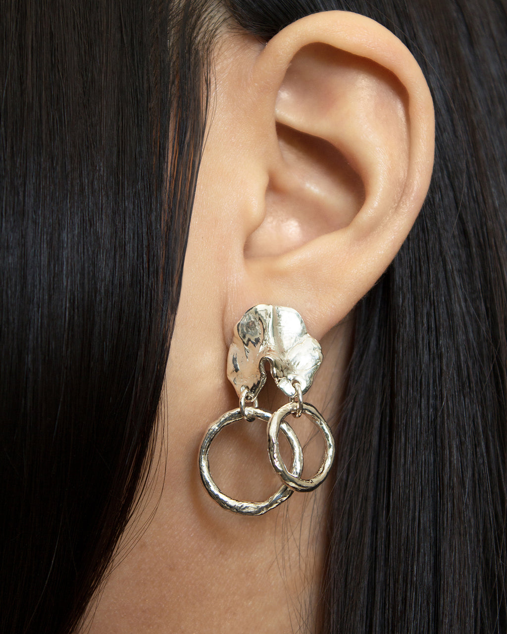 GINETTE // silver - ORA-C jewelry - handmade jewelry by Montreal based independent designer Caroline Pham