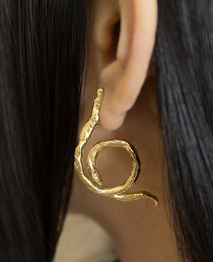 YVONNE // brass - ORA-C jewelry - handmade jewelry by Montreal based independent designer Caroline Pham
