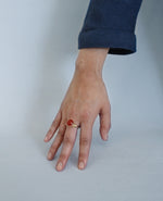 SOLARI // golden ring - ORA-C jewelry - handmade jewelry by Montreal based independent designer Caroline Pham
