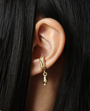 MANCINO // golden ear cuff - ORA-C jewelry - handmade jewelry by Montreal based independent designer Caroline Pham