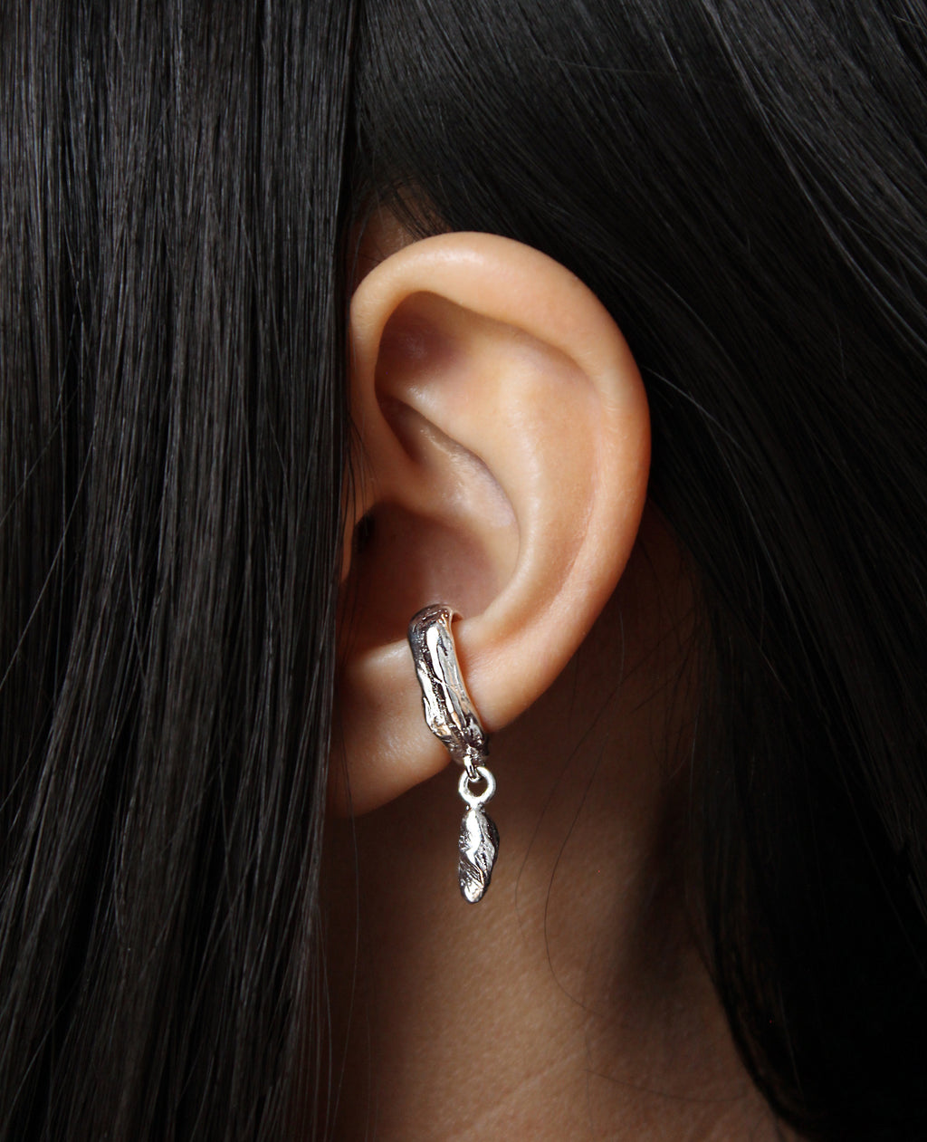 MANCINO // silver ear cuff - ORA-C jewelry - handmade jewelry by Montreal based independent designer Caroline Pham