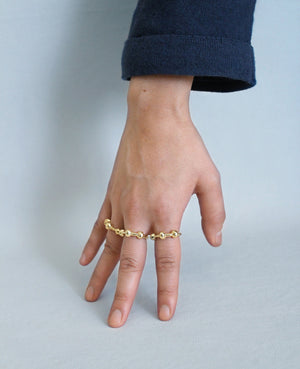 KNOTTI // golden ring - ORA-C jewelry - handmade jewelry by Montreal based independent designer Caroline Pham