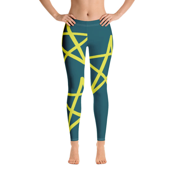 Yellow star leggings for the star you are.