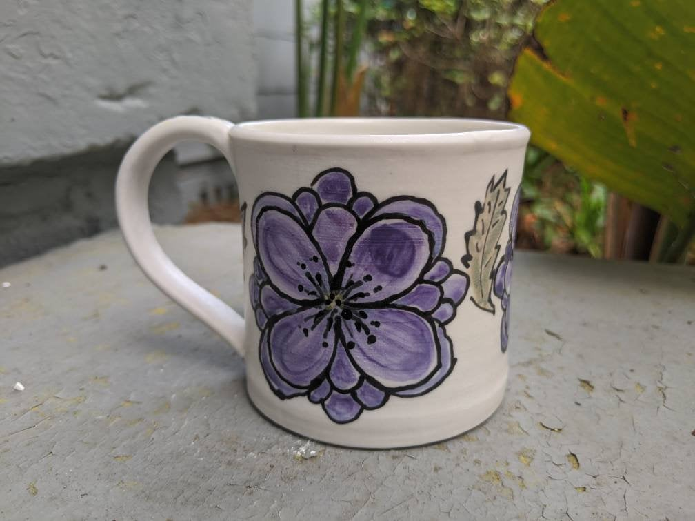 Purple Flowers Mug