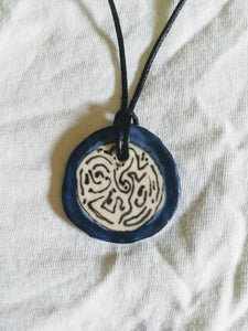 Blue Labyrinth Necklace