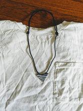 Load image into Gallery viewer, Stripey Triangle Necklace