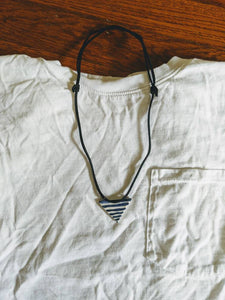 Stripey Triangle Necklace