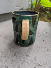 Load image into Gallery viewer, Teal with Black Triangles Mug