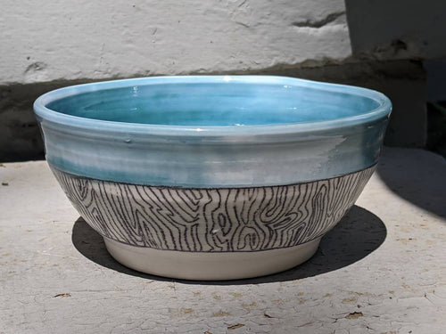 Blue Labyrinth Bowl