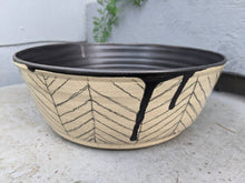 Load image into Gallery viewer, Large Speckled Herringbone Serving Bowl