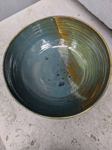 Medium Earthtones Serving Bowl