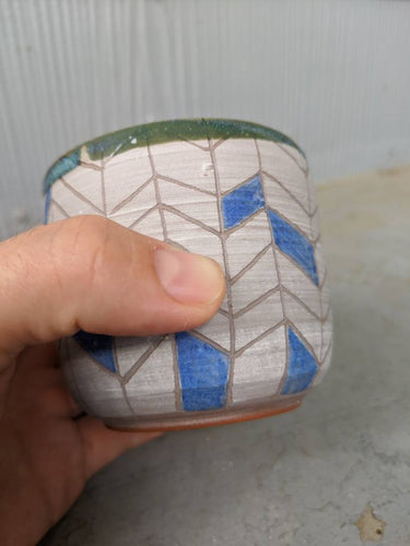 Herringbone Wine or Whisky Cup