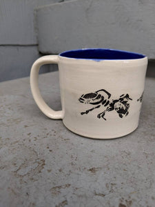 Lino Ants Marching Blue Mug