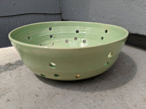 Large Turquoise Stoneware Berry Bowl