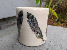 Load image into Gallery viewer, Porcelain Feathers Mug