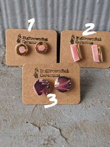 Pink Porcelain Post Earrings