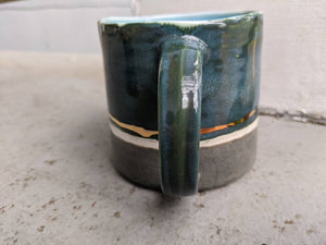 Porcelain Color Block Mug