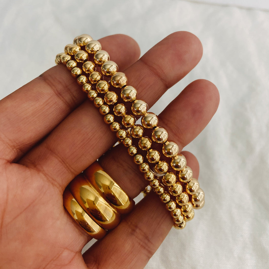 Stretchy gold filled bracelet