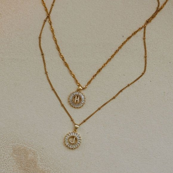 Gatsby Circle Initial Necklace