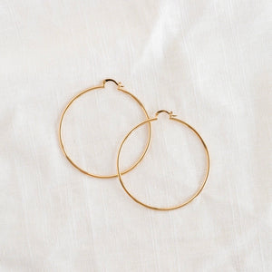 4k Gold plated big copper hoops