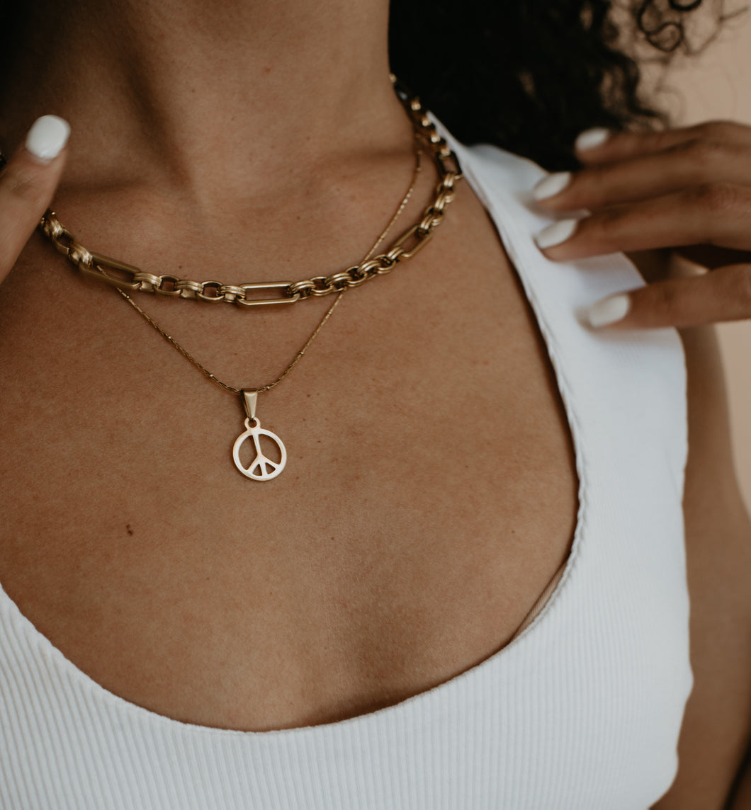 Peace Out Necklace