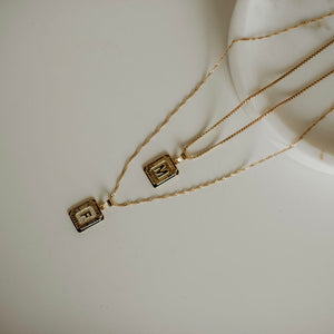 Signature Initial Rectangle Necklace