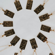 Load image into Gallery viewer, Zodiac Card Necklace