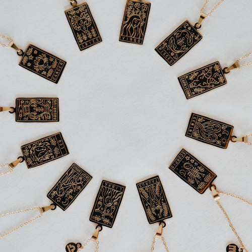Zodiac Card Necklace