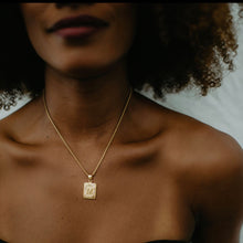 Load image into Gallery viewer, Signature Initial Rectangle Necklace