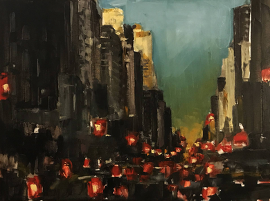 PARK AVENUE. EVENING. - ArtDepot