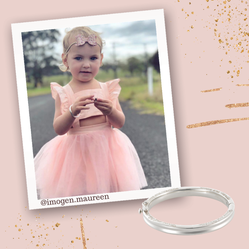 Baby Bangle - Traditional - Silver - Most popular for first birthday and christening gifts.