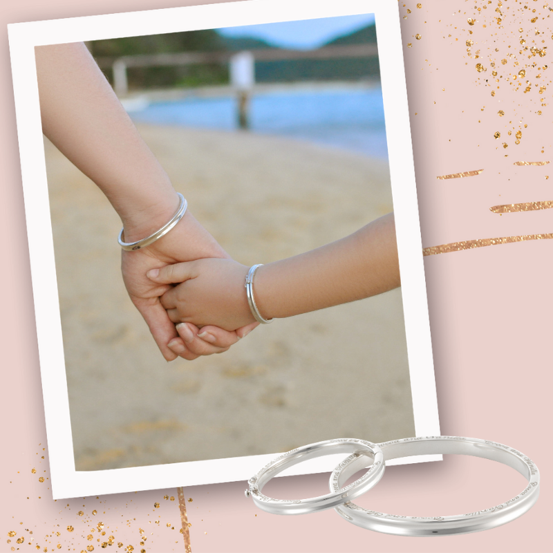 Mother & Child - Traditional - Silver Bangle Set