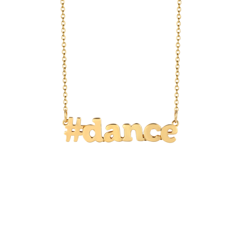 #Dance  Gold Necklace