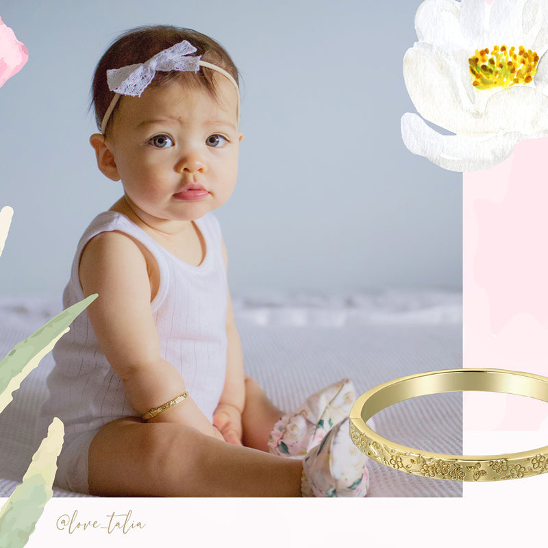 Baby Bangle -Circle of Life -Yellow Gold  - Low in Stock
