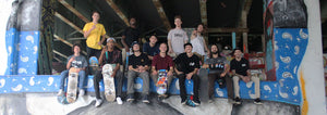Skateboard team photo pic DNA Skate co D.N.A Skateboarding riders FDR Skatepark