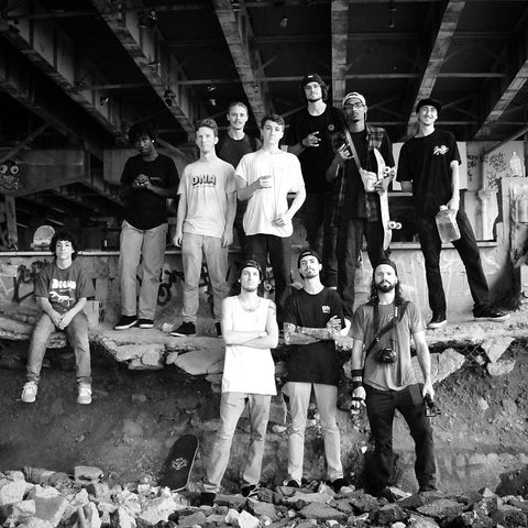 DNA Skateboard team photo D.N.A Skate team pic