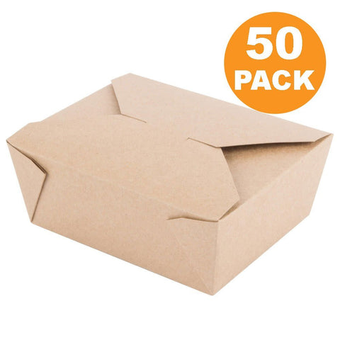 Disposable Paper Take Out Food Containers (50) - Kind4Earth