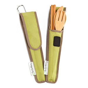 Bamboo Travel Utensils with Carrying Case - Kind4Earth