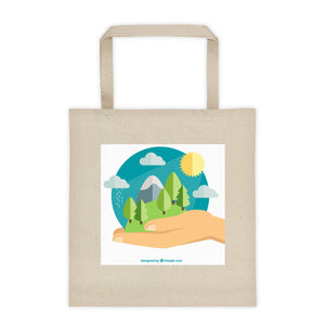 Durable Canvas Shopping Bag - Environment Design - Kind4Earth