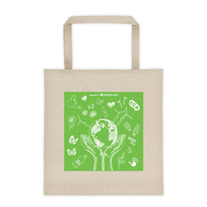 Durable Canvas Shopping Bag - Protect the Environment Design - Kind4Earth