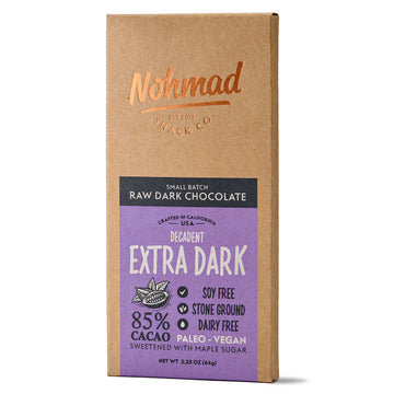 Extra Dark Chocolate Bar Nohmad Snack Co