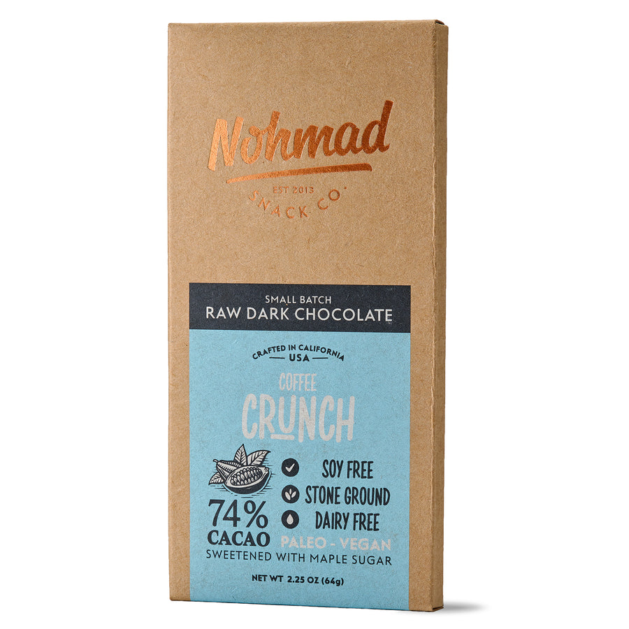Dark Chocolate Bar with Coffee Beans NOHMAD SNACK CO.