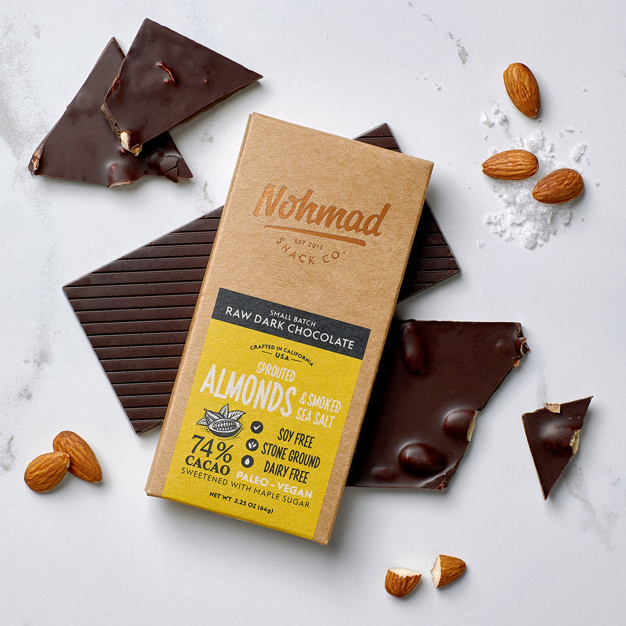 Dark Chocolate Bar with Sea Salt and Almonds