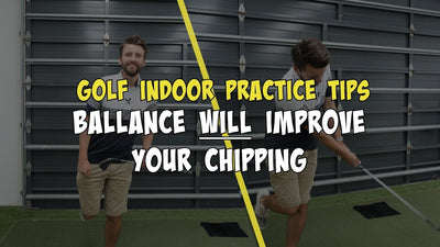 Balance will improve your chipping + swing! Golf Indoor Practice Tips