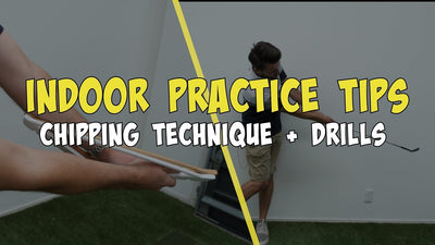 Coat hangers to improve chipping? New chipping drill - Golf Indoor Practice tips