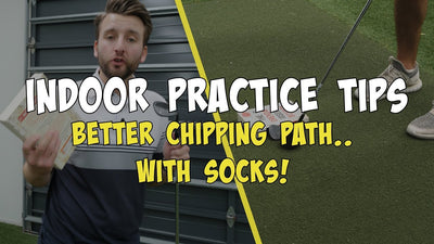 Better chipping path.. with socks and books? Golf Indoor Practice Tips