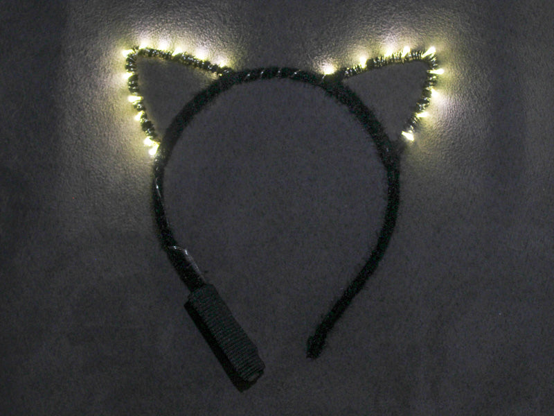 Warm White LED Kitty Ears