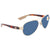 Costa Del Mar Loreto Grey 580P Aviator Sunglasses LR 64 OGP