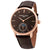 Frederique Constant SlimLine Moonphase Automatic Brown Dial Mens Watch FC-705C4S9