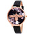 Olivia Burton 3D Bee Embroidered Black Dial Ladies Watch OB16EM02